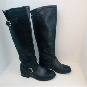 Steve Madden black riding buckle boots size 8